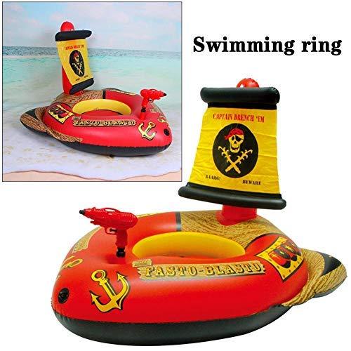Maliyaw Aufblasbare Pool Float Spielzeug Piratenboot Schwimmen Schwimmring Mit Fußpumpe Für Kinder Kind Kind Pool Float Bett Piratenschiff Wasserspielzeug