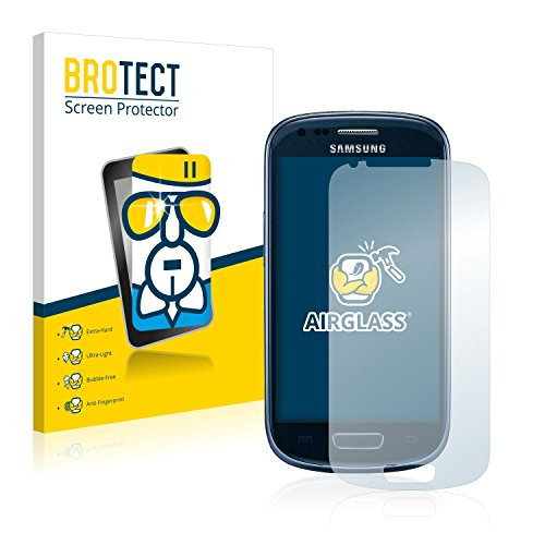 BROTECT Panzerglas Schutzfolie kompatibel mit Samsung Galaxy S3 Mini I8190 - AirGlass, 9H Härte, Anti-Fingerprint, HD-Clear
