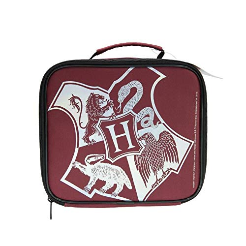 Harry Potter Crest, bolsa de almuerzo aislada para niños, mercancía oficial, regalo, Hprg-1025, poliéster
