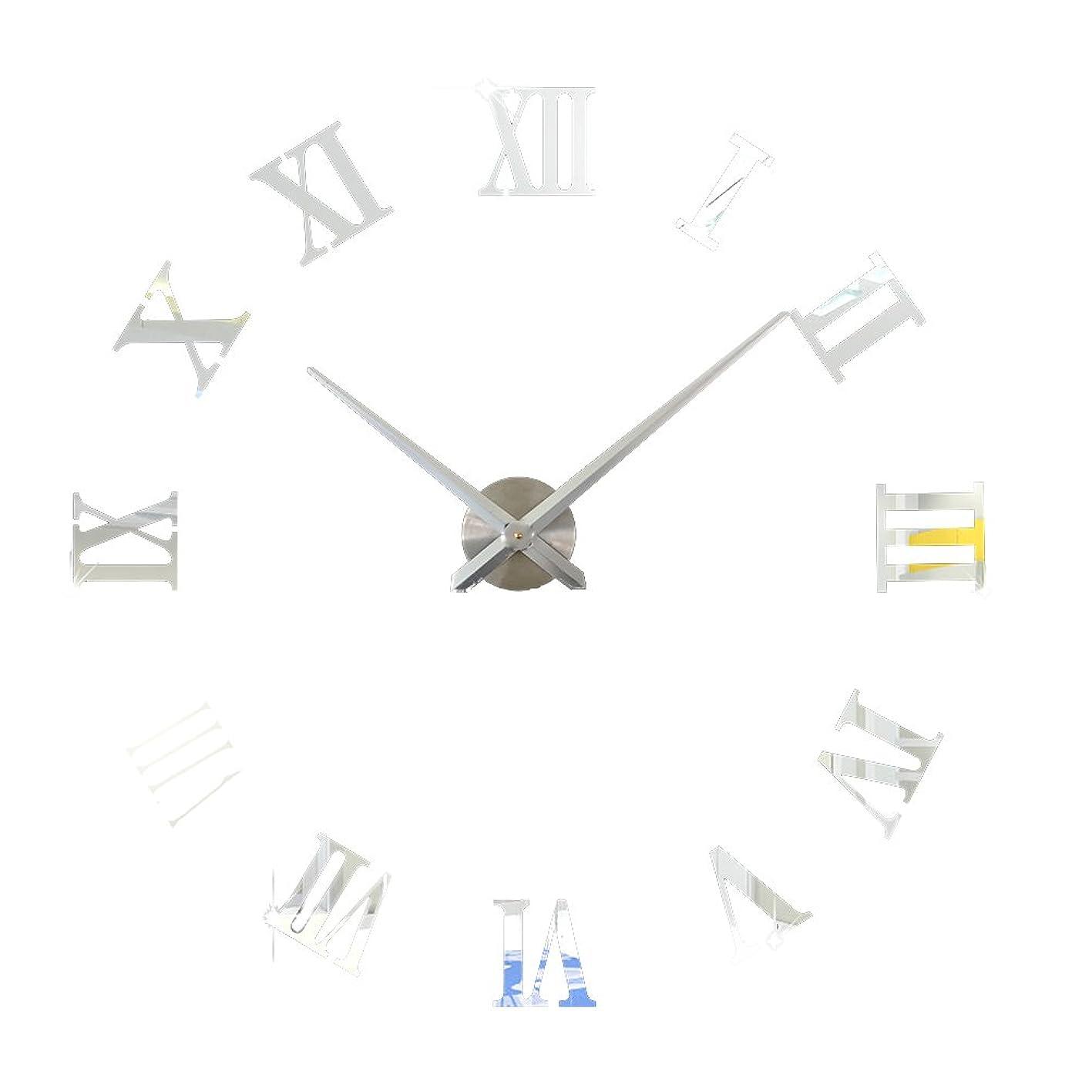 WINOMO Frameless Large Roman Numerals DIY Acrylic Mirror Wall Clock DIY Clock Kit pbkzwfmxyyq427