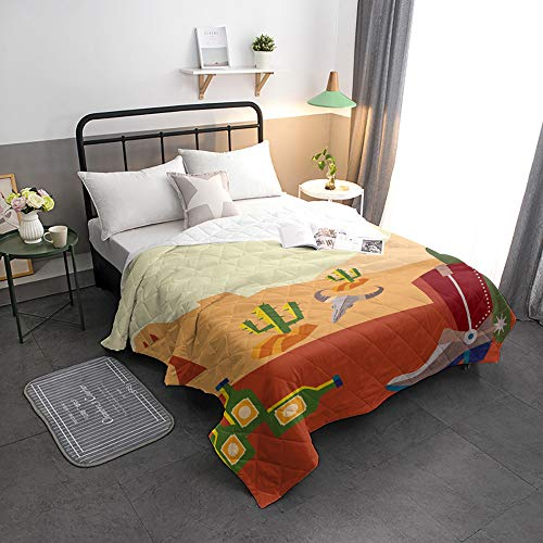 Find Bargain Advancey Reversible Lightweight Bedspread Coverlet Cartoon Desert Scenery Super Soft Wa...