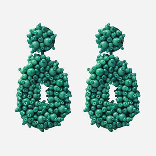 Pendientes de perlas de imitación de diamantes con incrustaciones de aleación nueva de moda Pendientes de cruz de rama Pendientes de alto grado para mujeres