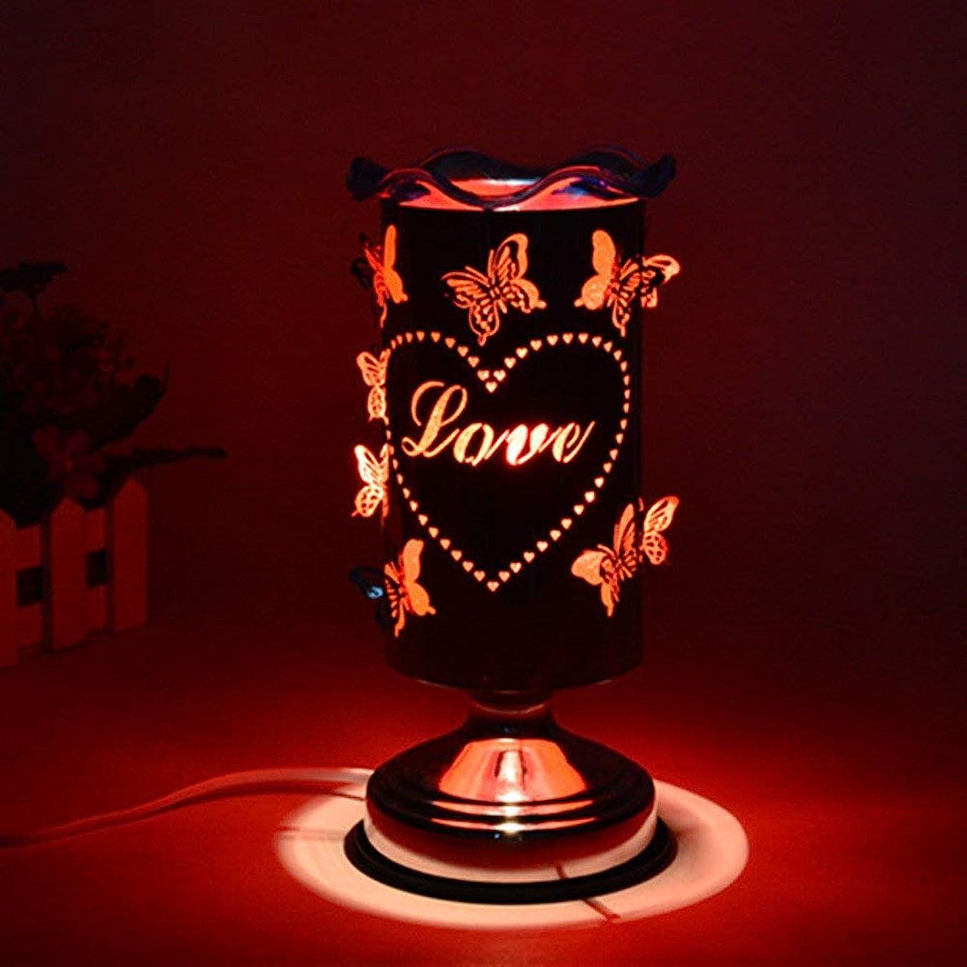 ジョガー過度のアピールバタフライアロマランププラグイン調節可能なライトエッセンシャルオイルランプ香炉バーナーベッドサイドデスクランプロマンチックギフトアロマランプ