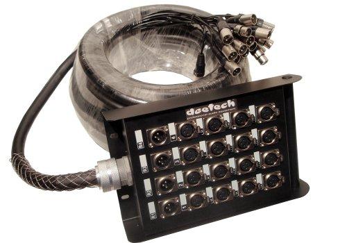 deetech 16/4 Kanal Multicore Kabel/Stagebox/Stage Box 16x XLR 4x XLR 20m