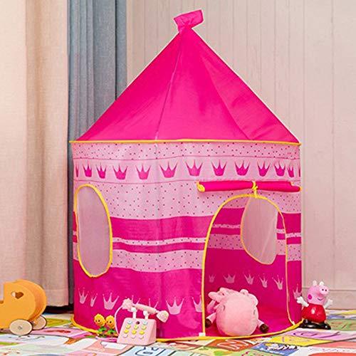 Your's Bath Kinderspielzelt, Mädchen Prinzessin Zelt Innen Traum Schloss Burg Haus Geburtstag Geschenk für Kinder (Rosa)