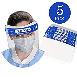 Sold by the Seller Daker Disposable face shield 5PCS - Plastic Face Shield
