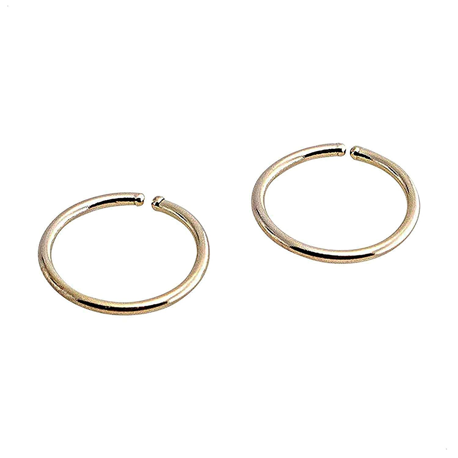 Mini New item 5.1mm or 0.19 Overseas parallel import regular item Inch Extra and Ring Small Tiny 14K Open