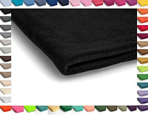 Polar Antipilling Fleece Stoffe 200 g / m² von allerbester Qualität erhältlich in 50 Farben 50 x 155 cm (Nr 12 Schwarz)