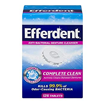 Efferdent Denture Cleanser Tablets Complete Clean 126 Tablets