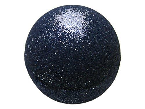 Black Bath Bomb with Silver Glitter - Large Bath Bomb 5.7oz - Anti-Aging - Epsom Salts - Coconut Oil - Kaolin Clay - Skin Moisturizers - Body Wash - Aromatherapy Bath - Add to Bubble Bath