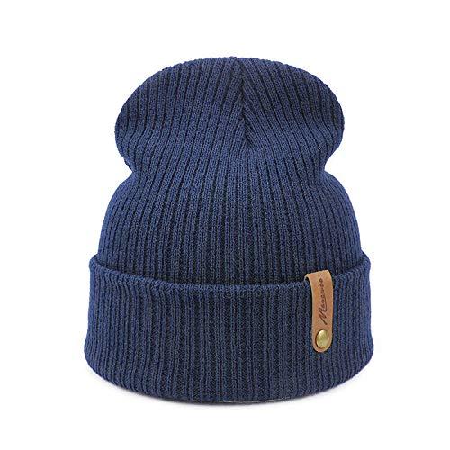 JIAXINJIE Dad Navy Cap Crochet Otoño Invierno Mujeres Hombres Unisex Gorros De Punto Gorras Sombreros Sólidos Pasamontañas Gorros Sombrero
