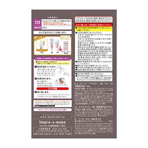 ビューティーン【医薬部外品】メイクアップカラーヘアカラーモノトーングレージュ1剤40g+2剤88mL+美容液5mL