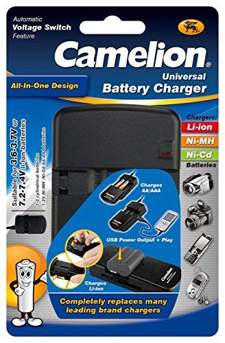 Camelion 20000312 Universal Lithium Ion Ladegerät (All in One, geeignet für NiMH Akkus AA, AAA)