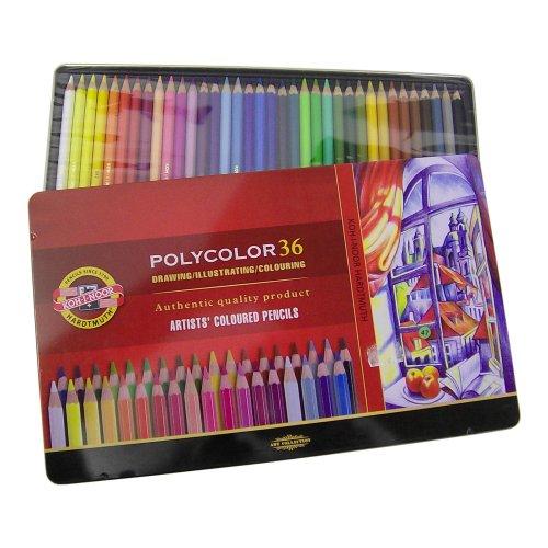 36 Polycolor - lápices de colores/rotuladores en caja de metal