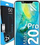 smart engineered [2 Stück] 3D Schutzfolien kompatibel mit Huawei Mate 20 Pro, hüllenfre&liche durchsichtige HD Bildschirmschutz-Folie, Schutz vor Dreck & Kratzern, kein Schutzglas