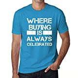 One in the City Hombre Camiseta Vintage T-Shirt Gráfico Where We Always Buying Azul