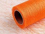 9m Orange Dekostoff Netzoptik Breite 30cm Länge 9m,