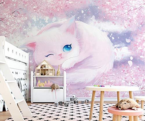 Heypres Tapeten, Wandtattoo,süße Katze High-End-Vliestapete, einfache Installation, Wanddeko Wohnzimmer, ungiftig und umweltfreundlich-süße_Katze_Benutzerdefiniertes_Format
