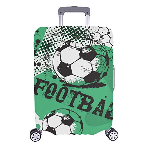 Travel Suitcase Protector Boy Game Fun Football Sport Durable Washable Protecor Cover Fits 28.5 X 20.5 Inch Covers For Luggage Luggage Hard Cover Best Luggage Cover