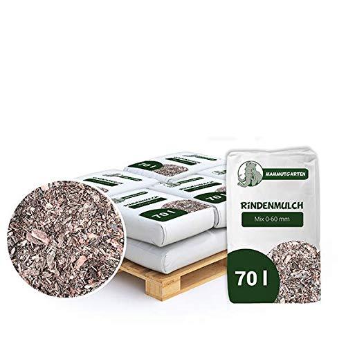 MammutGarten Rindenmulch Kiefer Rinde Garten Mix 0-60mm 70l Sack x 12 STK (840 L)