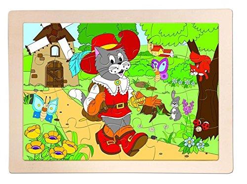 Woodyland Gato con Botas Jigsaw Puzzle de Madera: Amazon.es ...