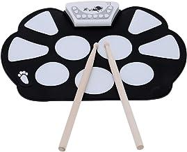 ammoon Enrolle Drum Pad Electrónico Portátil Kit Silicio