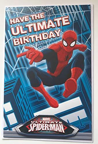 """Marvel Ultimate Spiderman """"Have the ultimate Birthday""""-Karte, Geburtstagskarte mit englischer Auf- und Inschrift"""