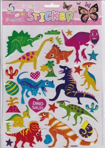 3D Animaux dinosaure Decal autocollant de décalque 1 Dimensions de la feuille: 25 cm x 20 cm