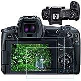 EOS R Top+LCD Protector de pantalla para cámara Canon EOS R de marco completo sin espejo [2 unidades superior+2 unidades LCD], Fire Rock Ultra Clear 9H para Canon R-4 Paquetes
