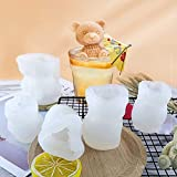 3D Silicone Mold Non-Stick Kitchen Supplies Mold Tray White Bear Ice Cube Maker Diy Baking Tools Five Packs