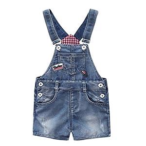 Baby & Little Boys/Girls Cute Blue Adjustable Denim Shortalls