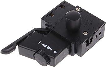 DIAMOEN Bloqueo 10A de la Herramienta eléctrica de Taladro eléctrico de Control de Velocidad de Disparo Interruptor de botón