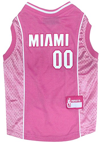 Pets First NBA MIAMI HEAT Pink DOG Jersey, Small (HEA-4019-SM)