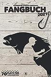 FANGBUCH 2021 ● Fangerfolge Logbuch ● Platz für 70 Angelausflüge: Angelbuch zum Angeln auf Forelle, Barsch, Zander, Hecht, Aal, Karpfen, Wels u.a. ● für Angler ● A5 ● 150 Seiten
