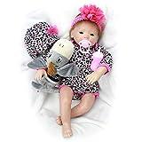 Acstar 45cm Muñecas Bebé Reborn Vinilo de Silicona de Simulación Suave para Niños y Niñas Regalo de Cumpleaños y Juguetes de Navidad 50C134