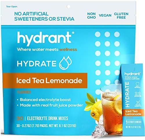Hydrant Hydrate Iced Tea Lemonade 30 Stick Packs Electrolyte Powder Rapid Hydration Mix Hydration product image