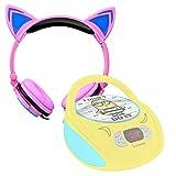 DURAGADGET Auriculares Plegables de Gato en Rosa para Lector de CD Despicable Me GRU Mi Villano Favorito | Minnie Mouse | Star Wars | Soy Luna | GRU: Mi Villano Favorito | Unicornio