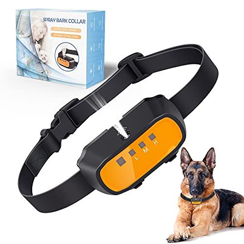 ULTPEAK Anti-Bell-Halsband, stoppt Bellen, Hundehalsband durch Safe Spray & Beep Signal, wiederaufladbares Hunde-Trainingshalsband mit verstellbarem Gurt