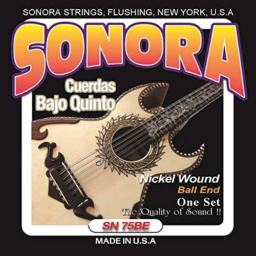 Sonora Strings - SN75BE - Bajo Quinto - Nickel Wound - Ball End - Made In USA