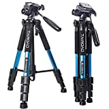 Compact Tripod- TAIROAD Portable 140cm Lightweight Tripod with Pan Head and Quick Release