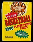1990 Fleer NBA All Star Fifth Anniversary Edition Basketball Cards Unopened Hobby Pack (15 cards per pack)