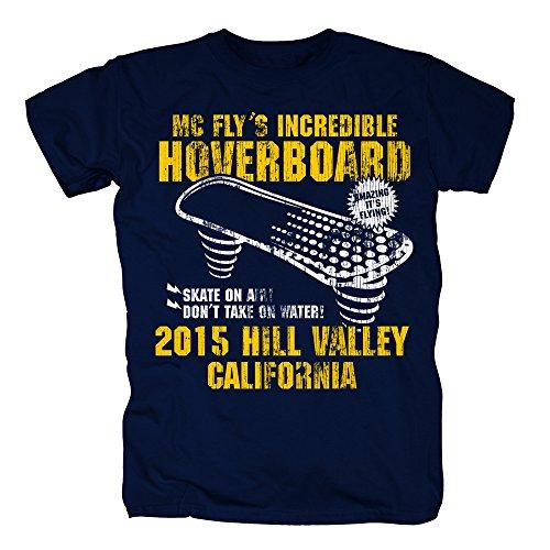 TSP Hoverboard California Camiseta para Hombre T-Shirt XXXXL Azul Oscuro
