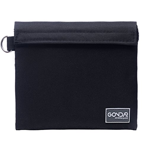 GONDAR Smell Proof Bag 7x6 - Small Pouch | Premium Activated Carbon Lining | Odor Locking Stash Bag | Smellproof Zipper, Waterproof | Store Herbs Dried Food Tea Rolling Accessories Grinder Vaporizer