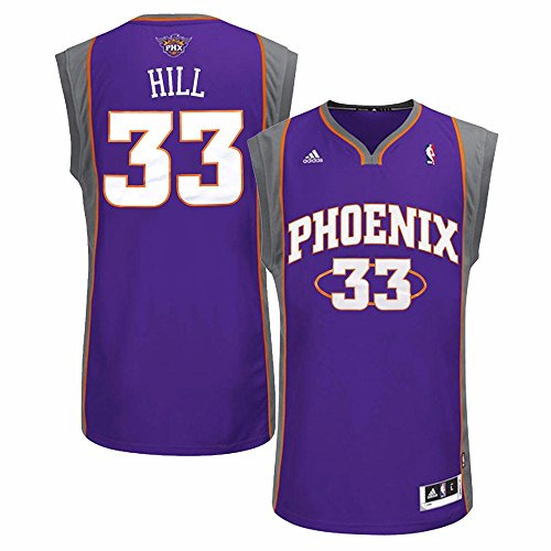 adidas Grant Hill Phoenix Suns NBA Men's Purple Replica Jersey (XL)