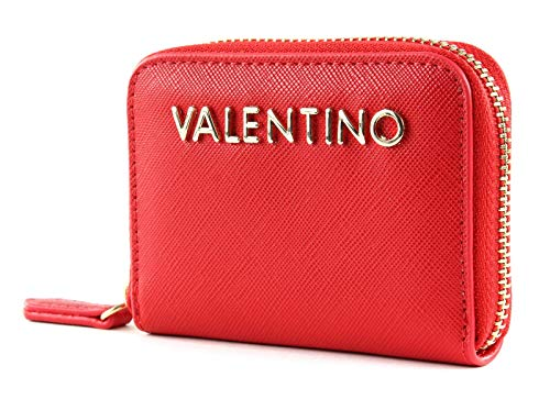 Mario Valentino VALENTINO by Divina SA Zip Around Wallet XS Rosso