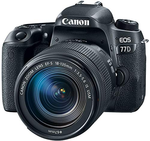 Great Price! Canon EOS 77D EF-S 18-135 IS USM Kit (Renewed)
