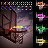 Basketball Hoop Lights - Remote Control for Outdoors - Basketball Rim Strip Light, Waterproof and Super Bright 16 Lighting Modes,Light Up Basketball Net,Ideal for Kids Adults Training Games (16ft)