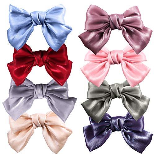 Fiocco per capelli, forcine per capelli, fiocchi per capelli, in tessuto attraente, bello e generoso, elegante e grazioso, per donare fascino alle donne, 8 colori A006