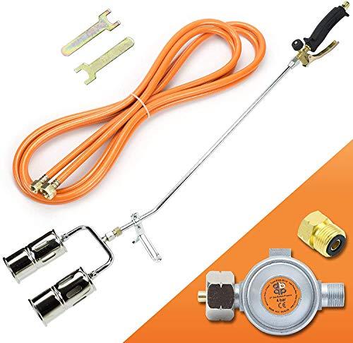 Gasbrenner Brenner Dachbrenner Mitteldruckregler Abflammgerät Gaslötgerät Druckregler Regler (SN0285R Gasbrenner 110KW mit 2-Düse+ Mitteldruckregler 4bar)
