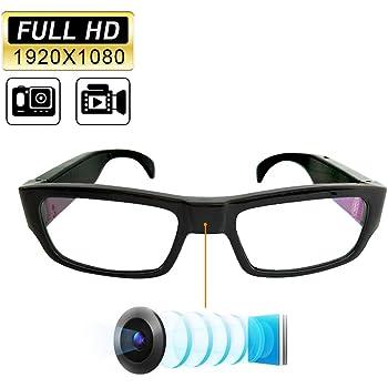 YAOAWE【改良型】カメラメガネ 超小型カメラ 無孔スパイカメラHD 1080Pメガネ型隠しカメラビデオカメラ 盗撮カメラ小型
